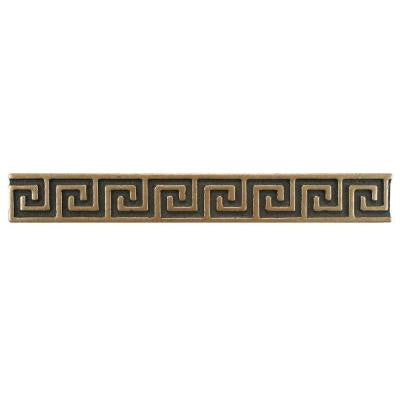 Contempo Greek Key Bronze Liner 8 in. x 1 in. Metallic Wall Trim Tile