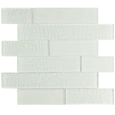 Igloo Panel Glacier White 11-5/8 in. x 11-3/4 in. x 9 mm Glass Mosaic Tile