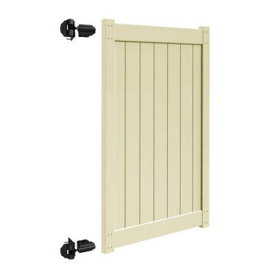 4 ft. x 6 ft. Sand Vinyl Un-Assembled Fence Gate for Bryce and Washington Series Fences