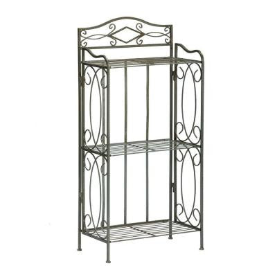 Reflections 3-Shelf Storage Rack in Matte Pewter
