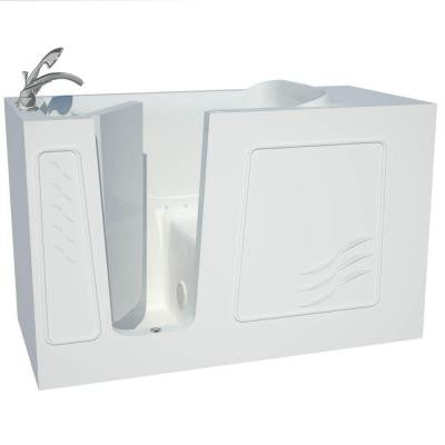 Contractor Series 5 ft. Left Drain Walk-In Air Bath Tub in White