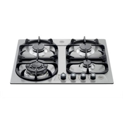 24 in. Gas Drop-In Cooktop in Stainless Steel with 4 Aluminum Burners