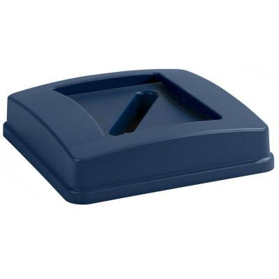 Centurian 35 Gal. and 50 Gal. Blue Trash Can Paper Recycling Lid (4-Pack)