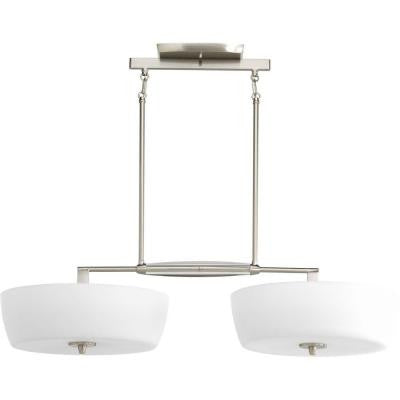 Divot Collection 4-Light Brushed Nickel Chandelier