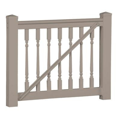 Delray 36 in. x 60 in. Vinyl Khaki Gate Rail Kit
