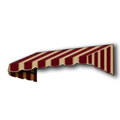 14 ft. San Francisco Window/Entry Awning (56 in. H x 48 in. D) in Burgundy/Tan Stripe