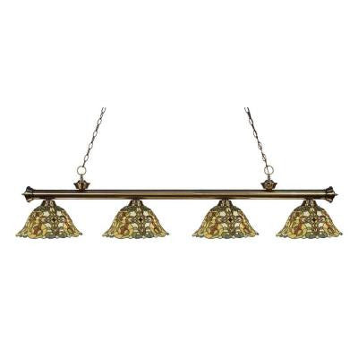 Coastal Brass 4-Light Antique Brass Island Light