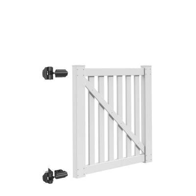 Colorado 4 ft. x 4 ft. White Vinyl Un-Assembled Fence Gate