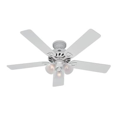 Kingston 52 in. White Indoor Ceiling Fan