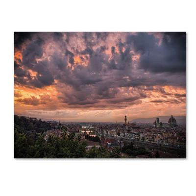 22 in. x 32 in. Bloody Sky Canvas Art
