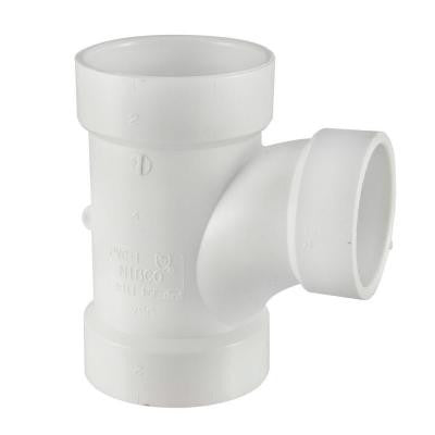 6 in. x 6 in. x 4 in. PVC DWV Hub x Hub x Hub Sanitary Reducing Tee