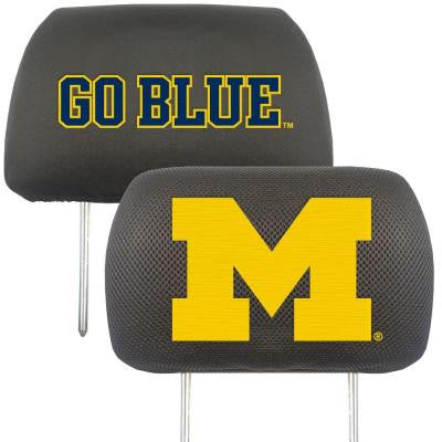 NCAA -University of Michigan Head Rest Cover (2-Pack)