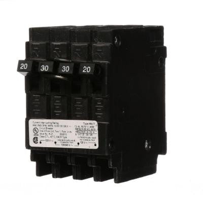 Triplex Two Outer 20 Amp Single-Pole and One Inner 30 Amp Double-Pole-Circuit Breaker