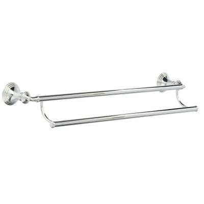 Devonshire 24 in. Double Towel Bar in Polished Chrome