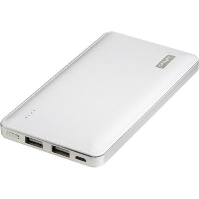 Power Pack L8000 8000mAh 1 Amp 2.4 Amp Portable Battery Charger for Smartphones and Tablets - White
