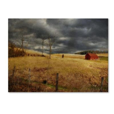 14 in. x 19 in. Winter Begins Canvas Art