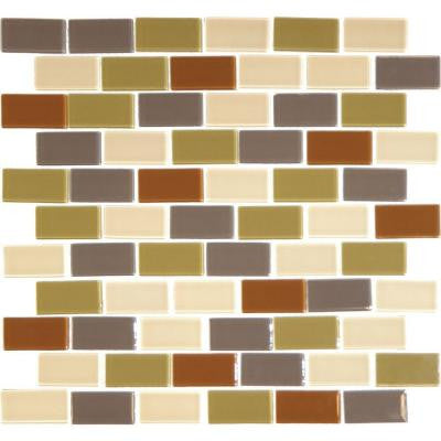 Everglade 12 in. x 12 in. x 4 mm Glass Mesh-Mounted Mosaic Tile