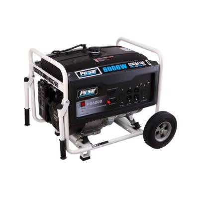 Pulsar 6,000-Watt Gasoline Powered Recoil Start Portable Generator with Ducar Engine