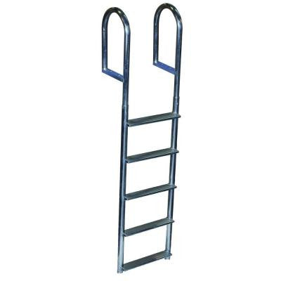 5 Step Wide Step Aluminum Dock Ladder