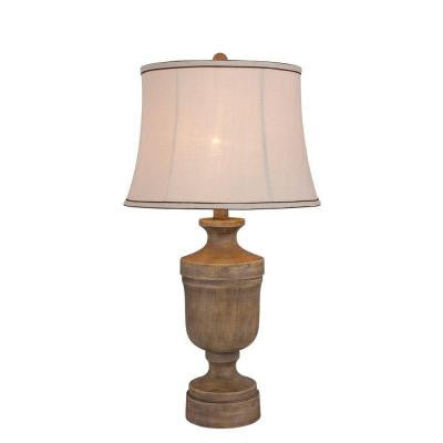 30 in. Wood Resin Table Lamp