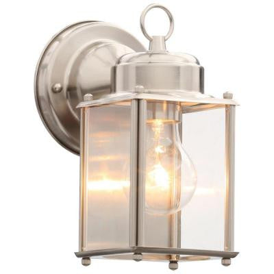 Brushed Nickel Outdoor Wall Lantern