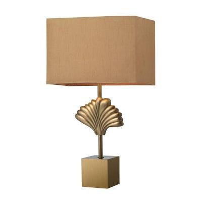 Vergato 26 in. Aged Brass Table Lamp with Shade