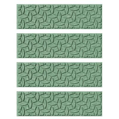 Light Green 8.5 in. x 30 in. Ellipse Stair Tread (Set of 4)