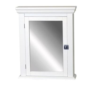 Early American 22 in. x 27 in. Wood Surface-Mount Medicine Cabinet in White