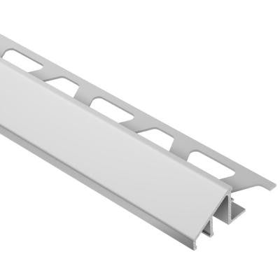 Reno-U Satin Anodized Aluminum 9/16 in. x 8 ft. 2-1/2 in. Metal Reducer Tile Edging Trim