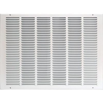 25 in. x 20 in. Return Air Vent Grille, White with Fixed Blades
