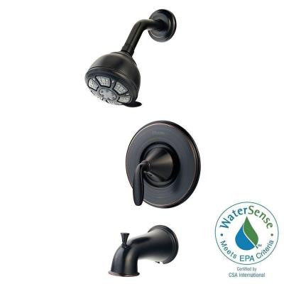 Pasadena Single-Handle 3-Spray Tub and Shower Faucet in Tuscan Bronze
