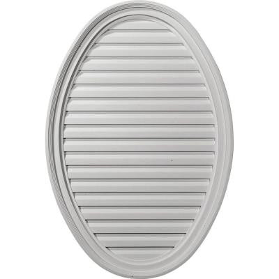 2-1/8 in. x 25 in. x 37 in. Functional Vertical Oval Gable Vent