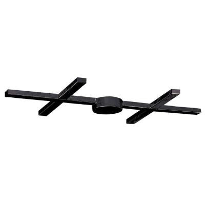Illuminare Accessories 6-Light Ceiling Mount Dark Rust Bar Pan