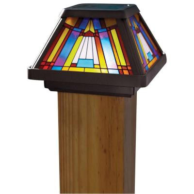 Solar Powered LED Multi-Color Outdoor Inglenook Post Cap Light
