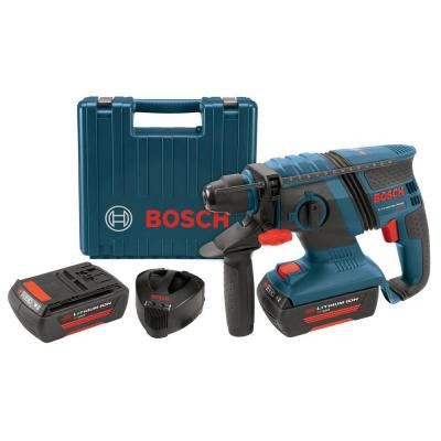 36-Volt Lithium-Ion 1 in. Corded Compact SDS-Plus Rotary Hammer with 2 SlimPack Battery