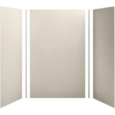 Choreograph 60in. X 36 in. x 96 in. 5-Piece Shower Wall Surround in Sandbar with Brick Texture for 96 in. Showers