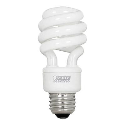 60W Equivalent Soft White (2700K) Spiral CFL Light Bulb (24-Pack)