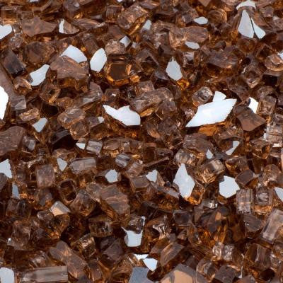 1/2 in., 10 lb. Medium Copper Reflective Tempered Fire Glass
