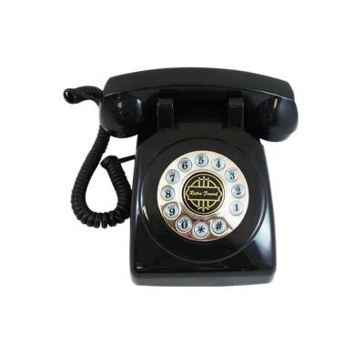 Analog Corded 1950 Desk Phone with Faux Rotary Dial