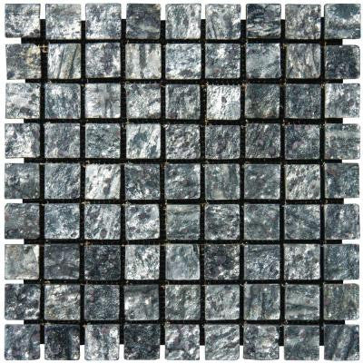 Ostrich Grey 12 in. x 12 in. x 10 mm Tumbled Quartzite Mesh-Mounted Mosaic Tile (10 sq. ft. / case)