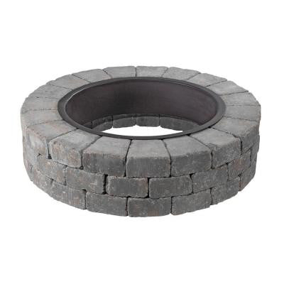 Grand Fire Pit 48 in. Concrete Fire Pit in Blue Stone