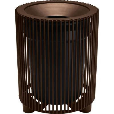 Grand Isle 32 Gal. Hazelnut Contract Trash Can with Liner and Flat Top