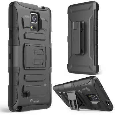 Prime Dual Layer Holster Case for Samsung Galaxy Note 4 - Black