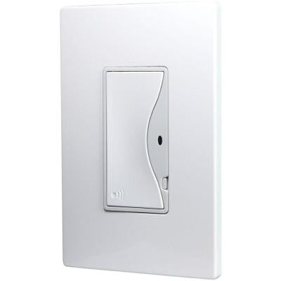 ASPIRE 8-Amp RF Single-Pole Rocker Wireless Light Switch - Alpine White