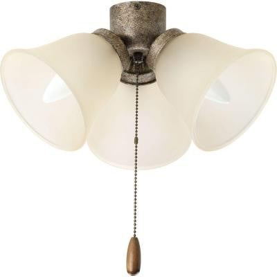 AirPro Collection 3-Light Pebbles Ceiling Fan Light