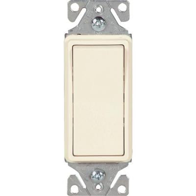 15 Amp Decorator 3-Way Light Switch - Light Almond