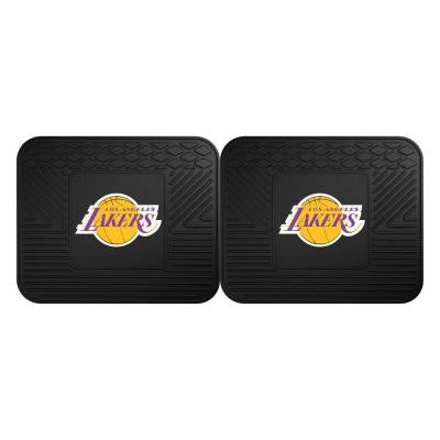 NBA Los Angeles Lakers Black Heavy Duty 2-Piece 14 in. x 17 in. Vinyl Utility Mat