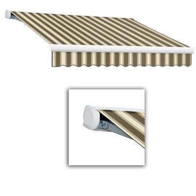 8 ft. Key West Full-Cassette Manual Retractable Awning (84 in. Projection) in Brown/Tan Multi