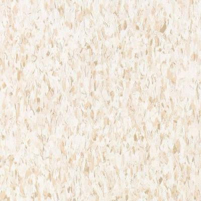 Imperial Texture VCT Fortress White Standard Excelon Vinyl Tile - 6 in. x 6 in. Take Home Sample