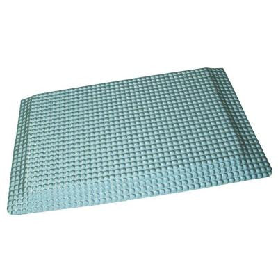 Reflex Double Sponge Glossy Platinum Raised Domed Surface 24 in. x 36 in. Vinyl Kitchen Mat